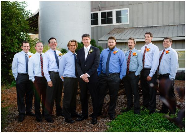 groom and groomsmen winery