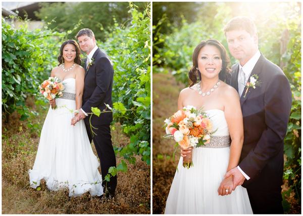 oregon winery bride groom wedding portraits