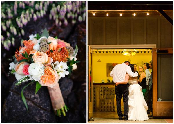 wedding flowers and bride groom