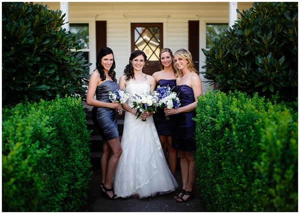 bridesmaids at rogue farm hopyard