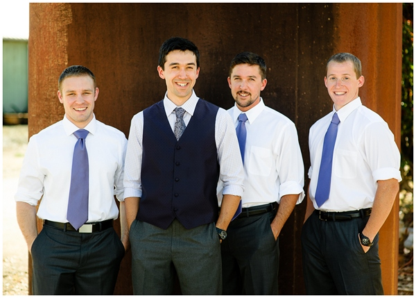 handsome groomsmen at rogue farms