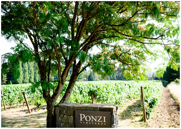 ponzi vineyard welcome wedding