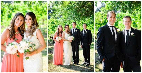 small oregon wedding bridal party