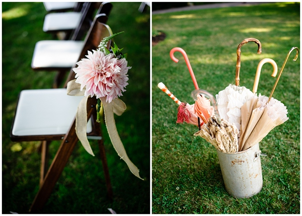 vintage details umbrella rental pink flowers