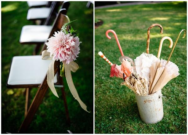 vintage details umbrella rental pink flowers
