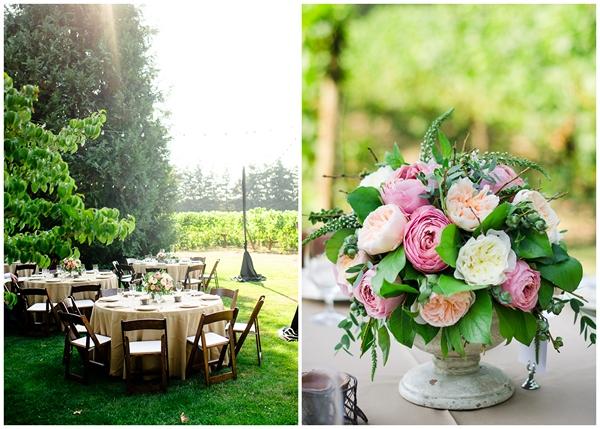 creative vintage table settings oregon vineyard wedding