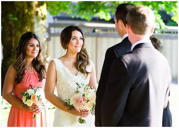 emotion from the bride during vows