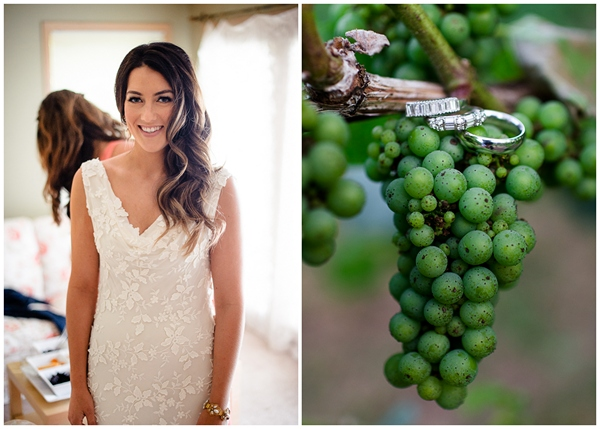 bride getting ready ponzi vineyards grapes and rings