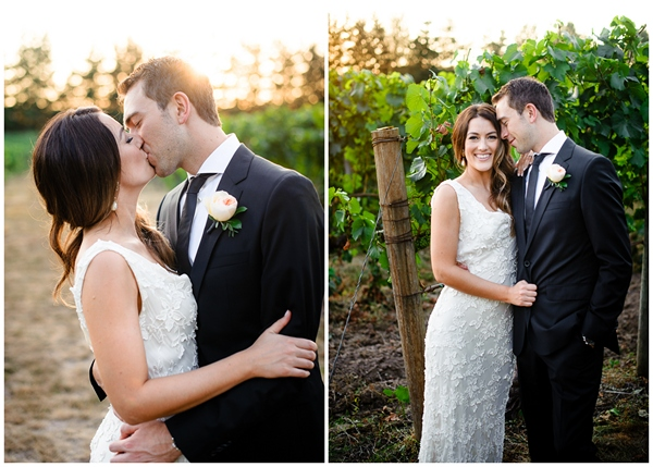 sunset light in oregon vineyard portraits