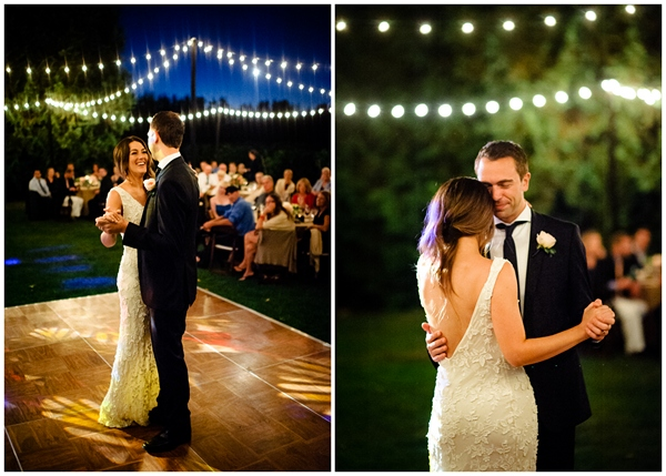 first dance oregon bride and groom