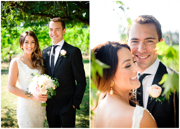 attractive couple vineyard oregon wedding