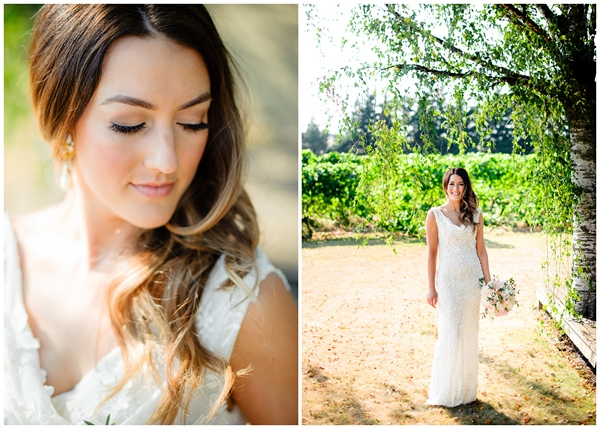 gorgeous bride ponzi vineyard oregon portland