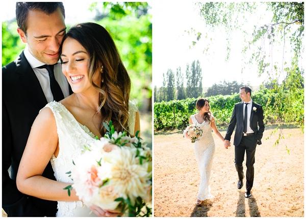 portland bride groom vineyard wedding