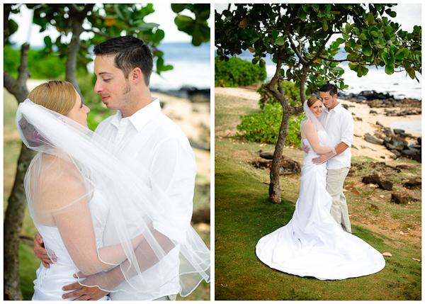 beautiful natural light wedding portraits on kauai