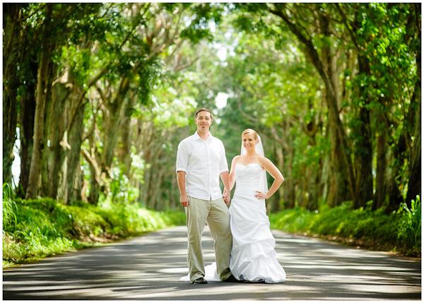 kauai tunnel of trees wedding photo
