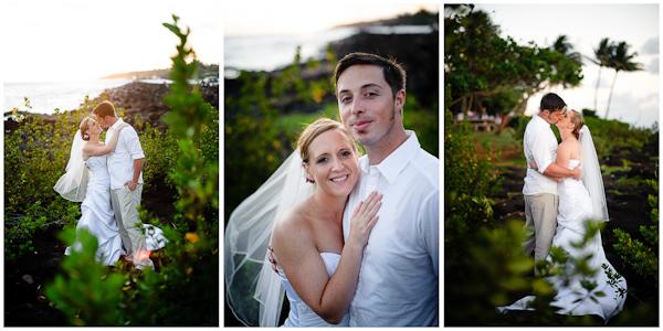 low light natural candid wedding portraits hawaii