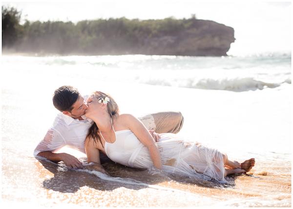 trash the dress wedding pictures poipu kauai