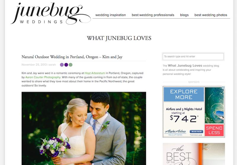 featured on junebug: kim & jay — Aaron Courter Photography