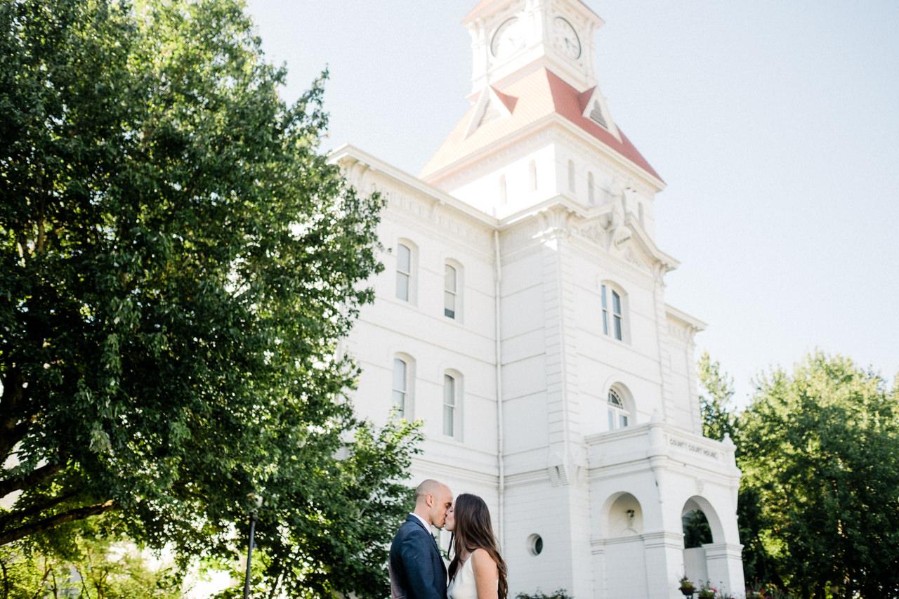 benton county courthouse corvallis wedding — Aaron Courter