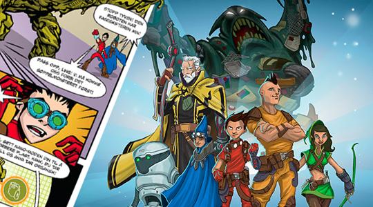 Super Scrap Squad (spill og tegneserie)