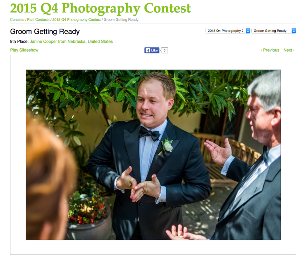 Wedding photojournalism contest