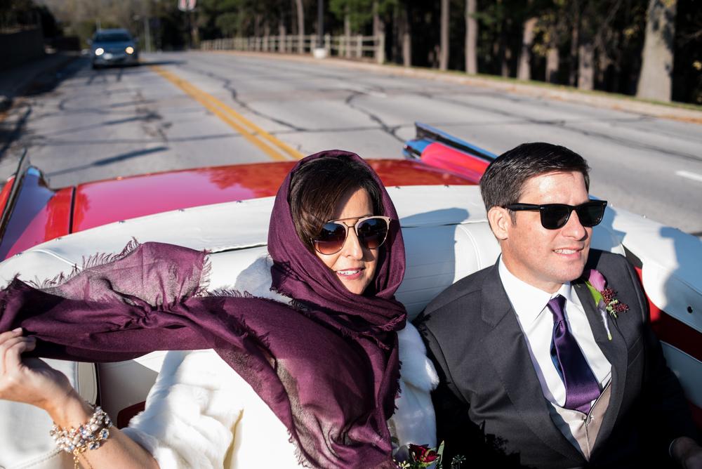 Ann and Eric cruising like chic badasses through Omaha.