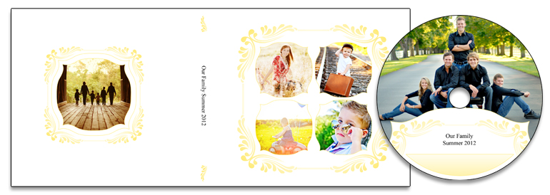 Floral Embellish (Yellow) Matching Templates