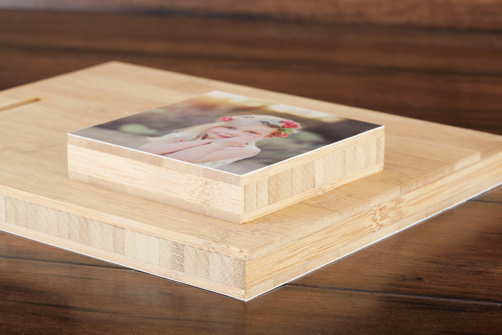 Photo Mounted On Bamboo Professional Photo Printing