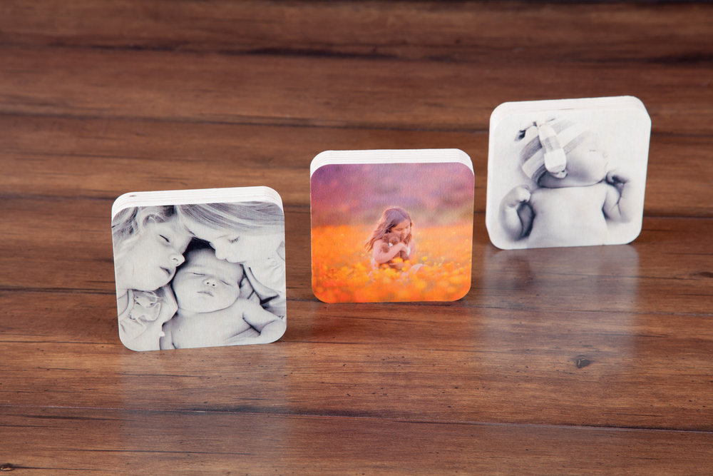 NEW Wood Photo Squares