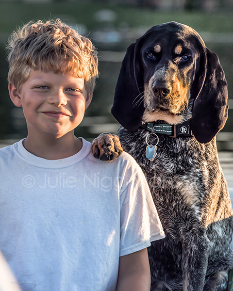 "© Julie Nigg Mansour ""Caught these two posing for me at the family cottage over 4th of July weekend ... I just love the way their personalities shine through! Thank you Color Inc for your amazing customer service and quality work!"""
