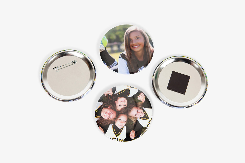 """School and Sports Specific 3"""" Round Magnet and Button"""