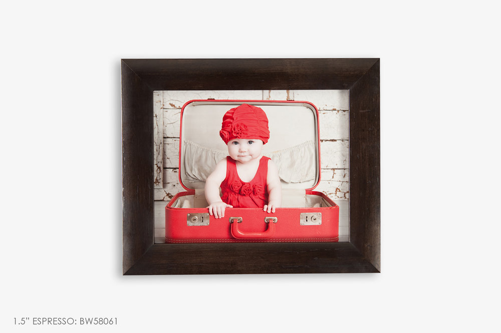 "1.5"" Brown Photo Frame"