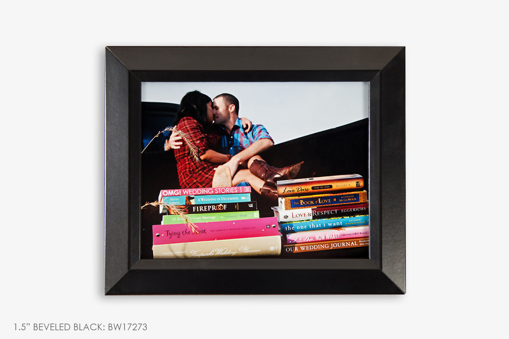 "1.5"" Beveled Black Photo Frame"