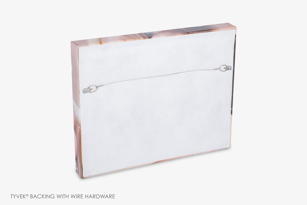 Gallery Wrapped Canvas Tyvek with Wire Hardware