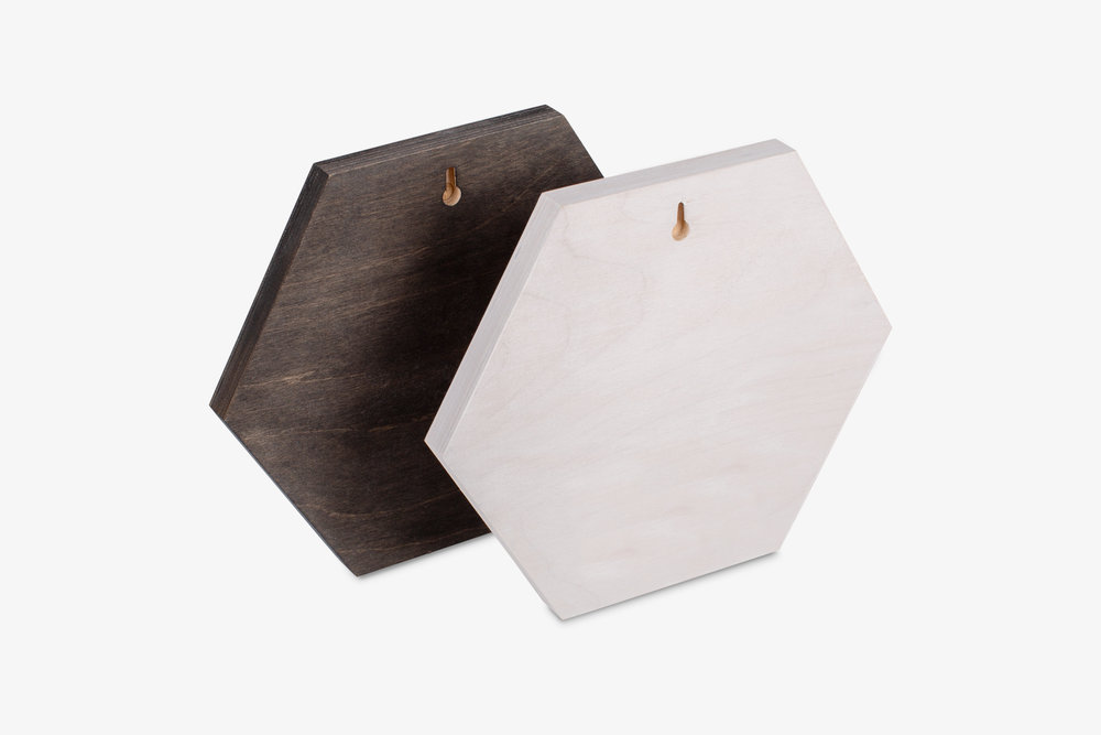 Mendoza Wood Print Hexagon Keyhole