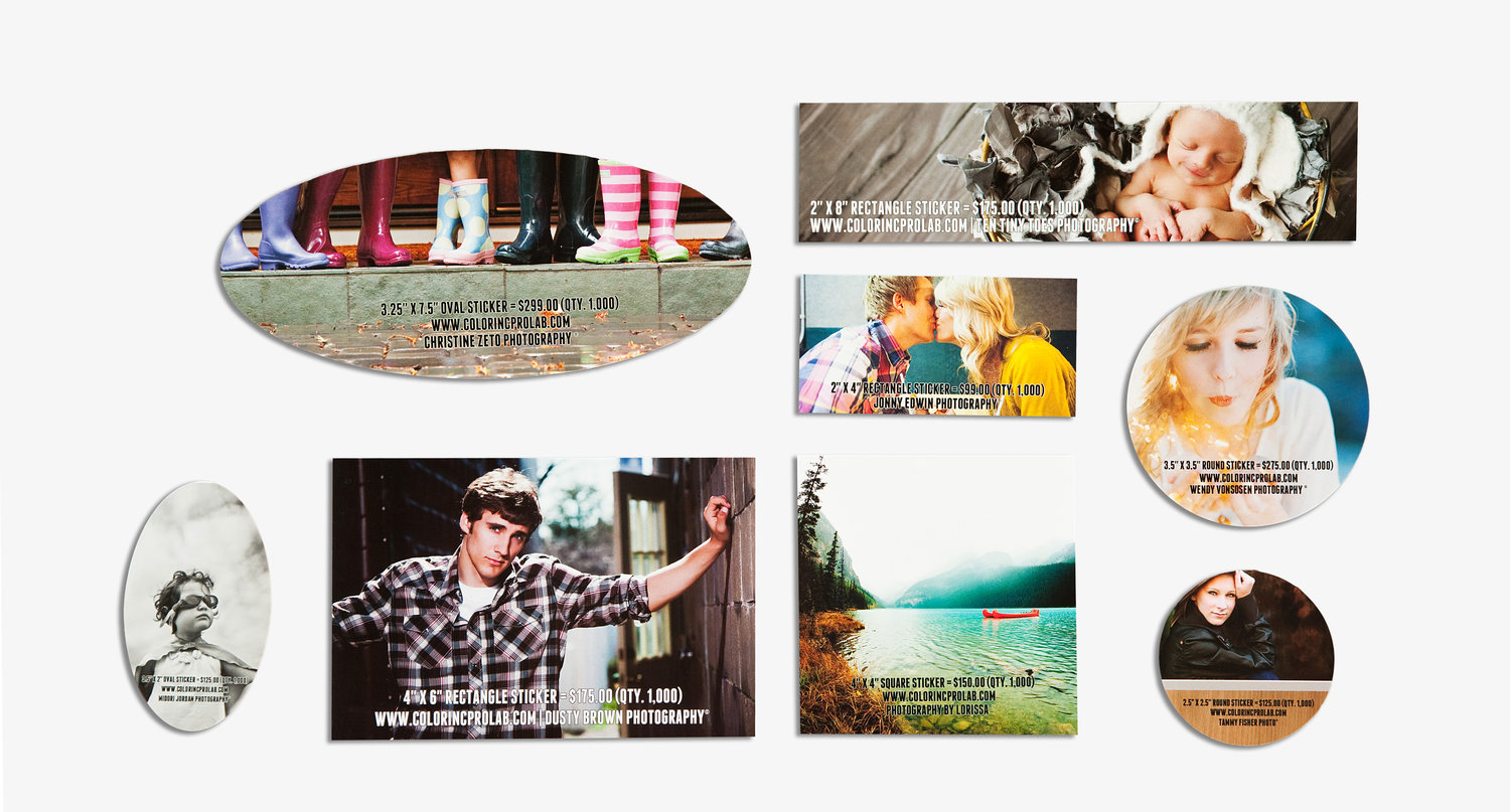 Long run stickers color inc professional photo and home decor printing