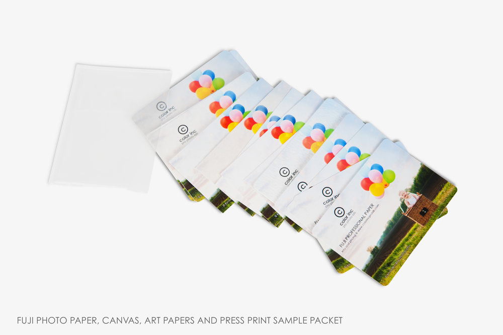 Free Photo Paper Sample Pack U2014 Color Inc Professional Photo And Home Decor  Printing