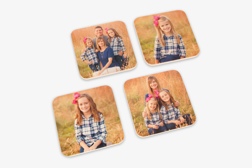 Wood Photo Coasters