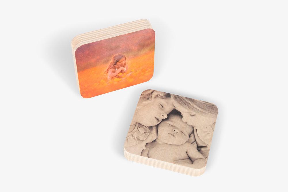 Wood Photo Squares