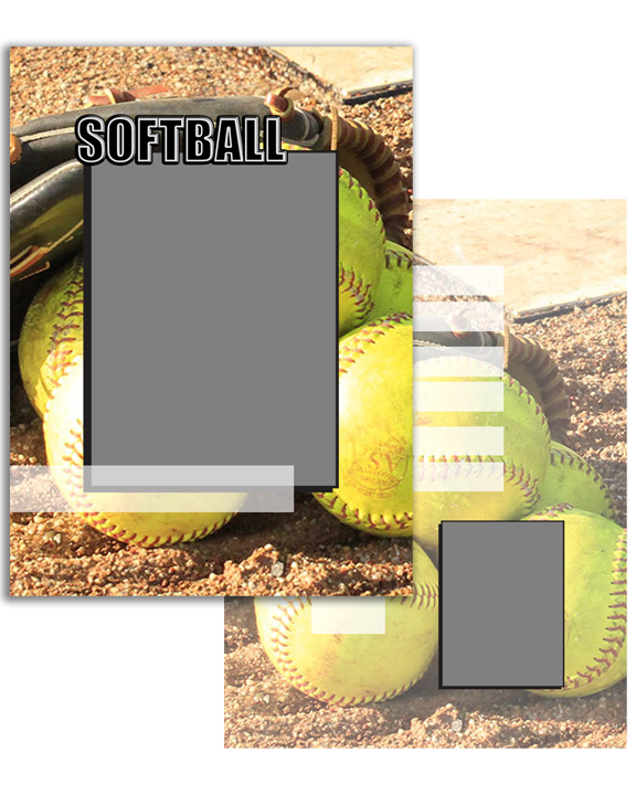Sports Specific Softball Press Printed Trading Cards