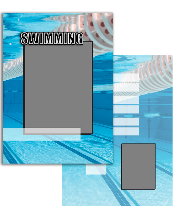Sports Specific Swimming Press Printed Trading Cards