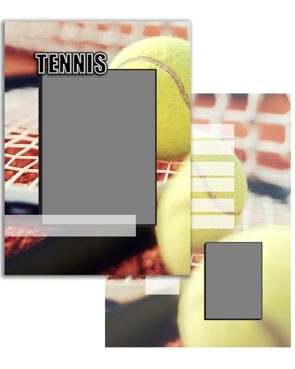 Sports Specific Tennis Press Printed Trading Cards
