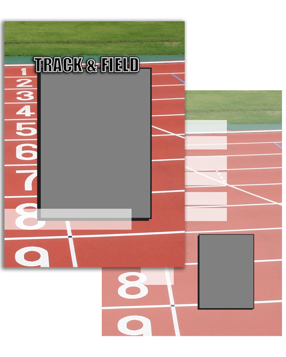 Sports Specific Track and Field Press Printed Trading Cards