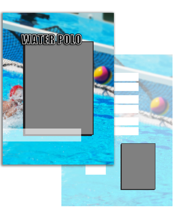 Sports Specific Water Polo Press Printed Trading Cards