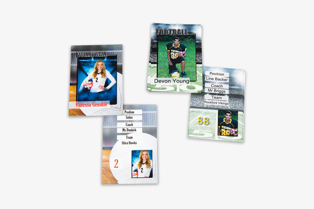 Sports Specific Press Printed Trading Cards