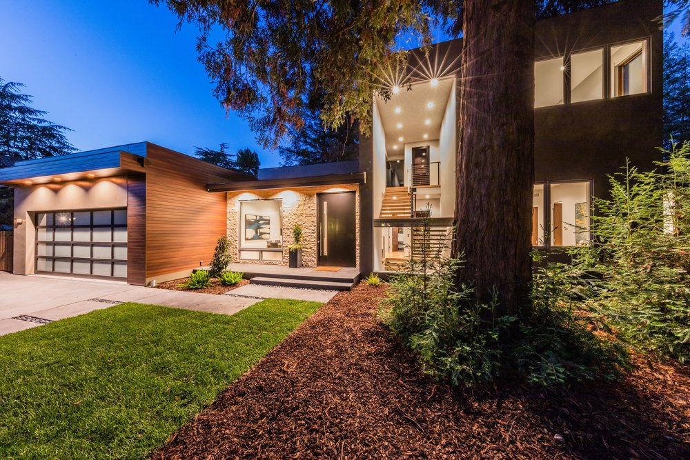 PLEASE also visit the 3D tour of this beautiful house.      https://protect-us.mimecast.com/s/X8WEBXc56VgOuz         Newly constructed contemporary masterpiece in Menlo Park CA. Walking distance to downtown. Features 5 ensuite bedrooms and approximately 5,900 sq. ft. of living space on 3 levels. This magnificent home offers luxury amenities such as radiant heated floors, a 14ft X 5ft Calcutta marble kitchen island, and Porcelanosa cabinets, tiles and fixtures. Other features include a rooftop deck, movie theater, one of a kind (wood and glass elevator), plus wine cellar and a home gym with glass walls.