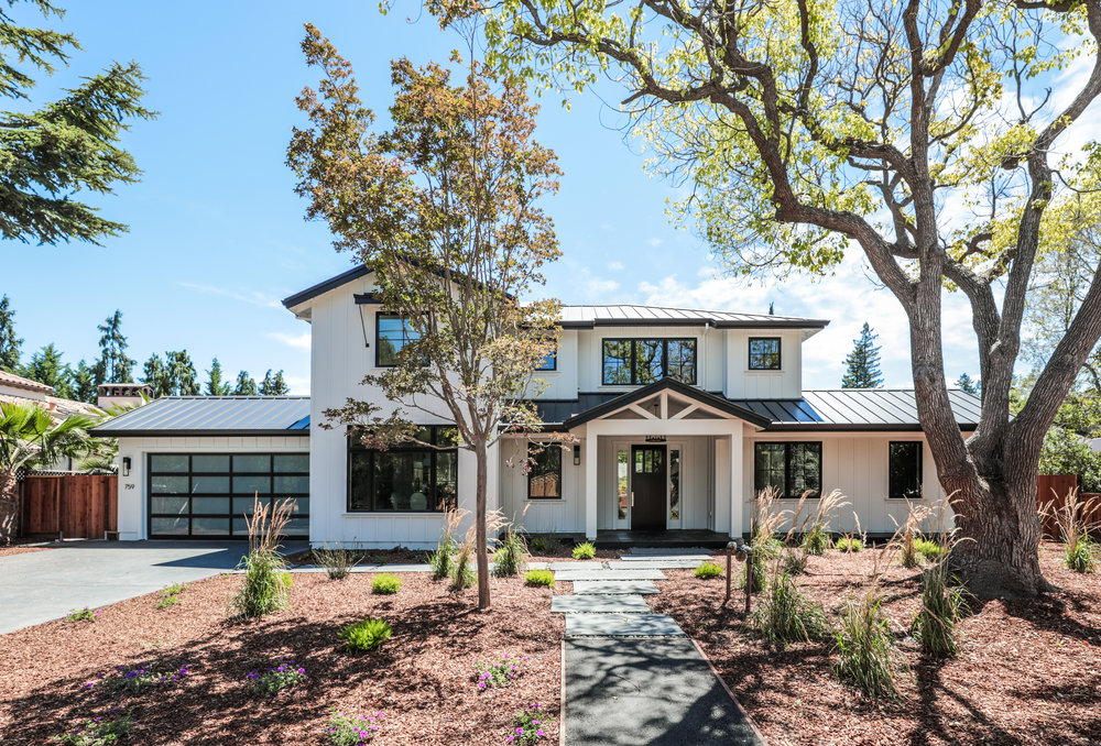 Custom Contemporary Farm house, 5,000 sqft living space plus a over-sized double deep garage in Los Altos CA. sold for $6,850,000