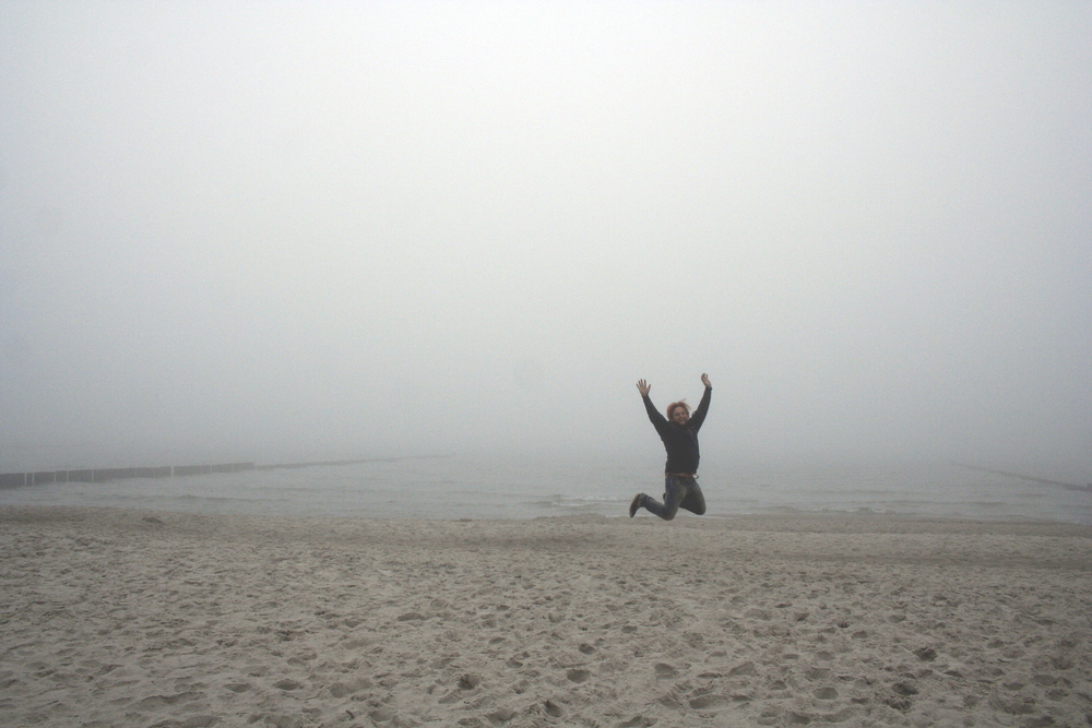Robert and I went to the beach on Monday which was surprisingly super foggy. But we enjoyed it briefly anyhow!