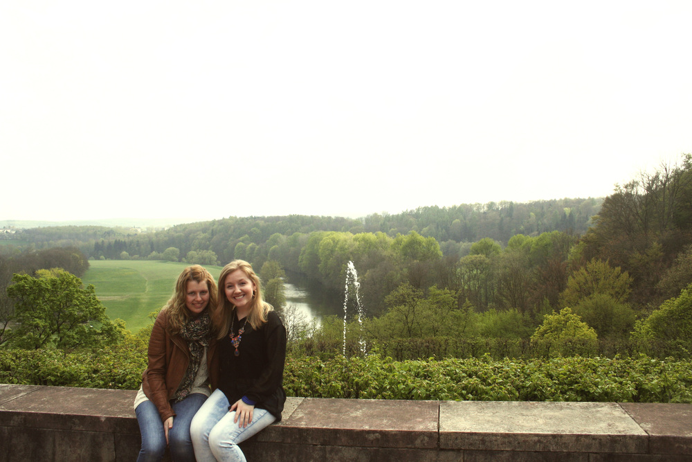 Franca and I in the Lichtenwalde Castle Garden