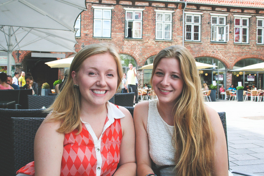 Me and Leonie, my younger host sister, in Lübeck